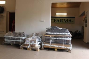 Drapáky, vkladacie lyžice FARMA a hydraulické rotátory Baltrotors