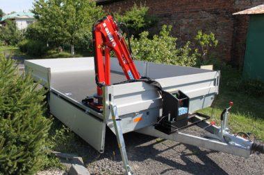 Príves s hydraulickým žeriavom Maxilift ML 110.3