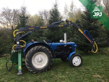 Hydraulická ruka FARMA C 6,3G2 vrátane podporných nôh a upínacieho adaptéra do 3 body traktora