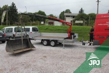 Hydraulická ruka Maxilift ML 110 a nákladné príves Agados