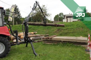Hydraulická ruka Vahva Jussi 320 do 3bodu malotraktoru Belarus,
