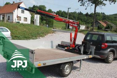 Manipulačné hydraulické ruky Maxilift ML 110 a príves za osobný automobil Agados
