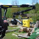 Hydraulická ruka Vahva Jussi 500 za traktor