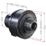 Hlavné rozmery hydraulického motora Black Bruin série S bez brzdy